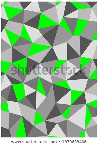 green diamond in grey back Stock photo © prill