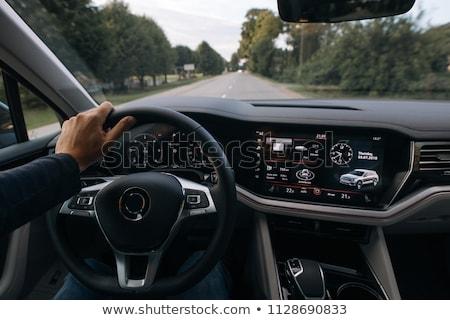 Nowoczesne samochodu tablica rozdzielcza skupić kierownica sportu Zdjęcia stock © mtoome