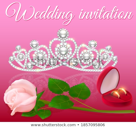 Beautiful wedding diadem , vector illustration  Stock photo © carodi