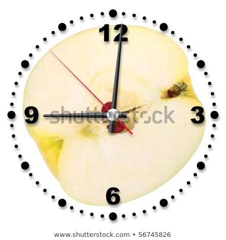 atravessar · amarelo · maçã · isolado · branco - foto stock © boroda