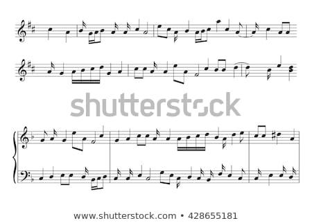 Set of musical notes staff Stock photo © m_pavlov