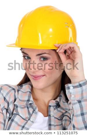 brunette craftswoman looking mischievous Stock photo © photography33