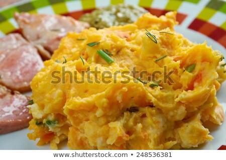 Potato Puree And Ham Stok fotoğraf © Fanfo