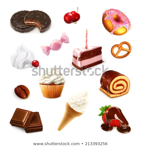 Unhealthy Diet Of Donuts And Cookies And Sweet Coffee Stock photo © stuartmiles