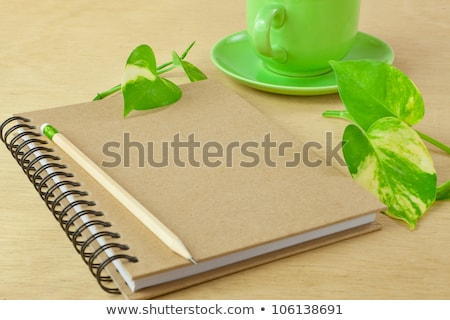 recycle notebook and wooden pencil stock photo © witthaya