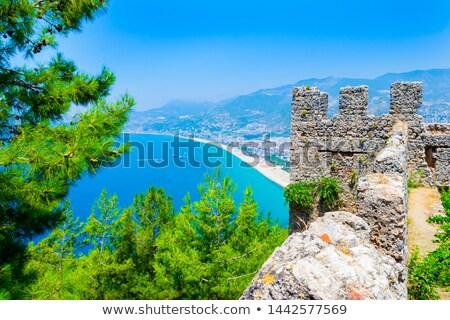 fortress wall in alanya stock photo © csakisti