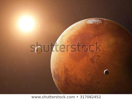 Meteoor komeet manier aarde hemel Stockfoto © morrbyte