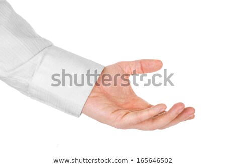 Hand with a white sleeve on  black Stock photo © pzaxe