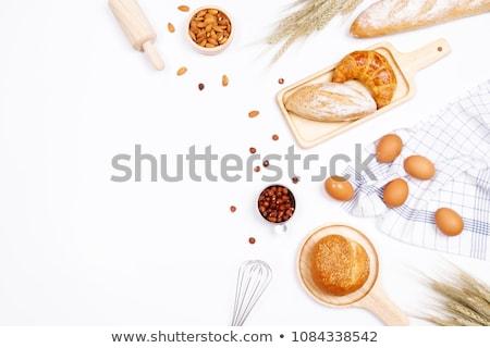白パン · ケシ · まな板 · 背景 · 表 - ストックフォト © zhekos
