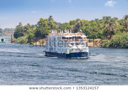 Stockfoto: Egyptische · landschap · luxor · zonnige · landschap · rivier