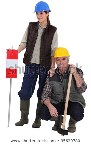 Daughter helping her laborer dad Stock photo © photography33