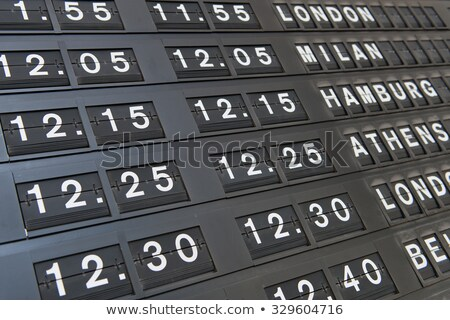 airport depeartures display detail Stock photo © milsiart