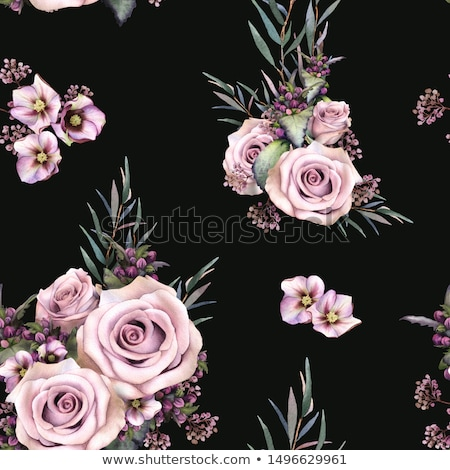 hand drawn green floral background stock photo © elmiko