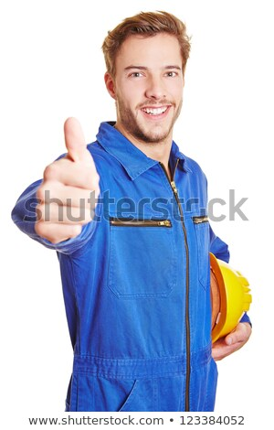 portrait of young craftsman thumb up Stock photo © photography33