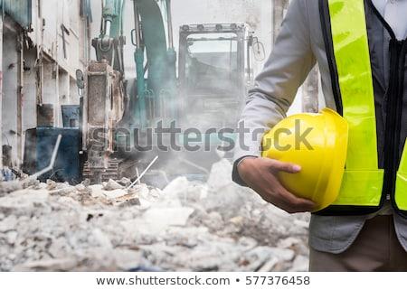 Rozbiórki pracownika drogowego człowiek pracy bezpieczeństwa Zdjęcia stock © photography33