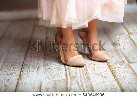 kız · çorap · yüksek · topuklu · resim - stok fotoğraf © dolgachov
