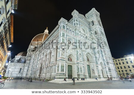 Facade of Basilica at night, Florence, Italy Stock photo © michey