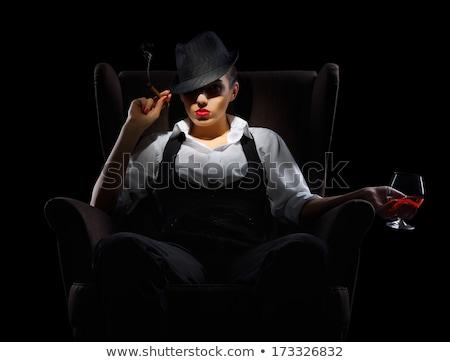 Sexy · сигару · Солнцезащитные · очки · красный - Сток-фото © acidgrey