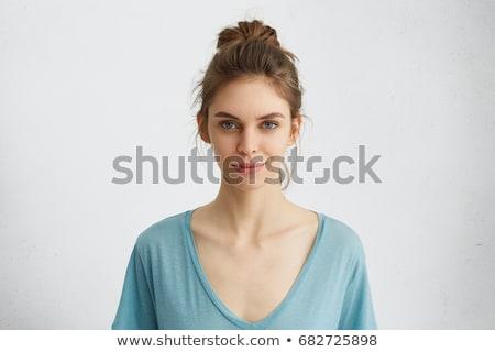 портрет таинственный молодые Lady изолированный Сток-фото © acidgrey