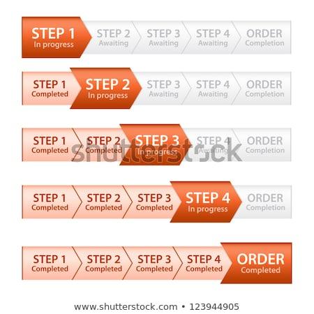 оранжевый прогресс Бар порядка процесс пять Сток-фото © liliwhite