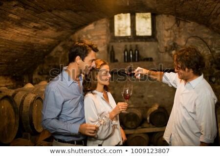 Prima vino retrato jóvenes Foto stock © lithian