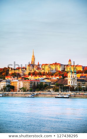 old budapest overview as seen from danube river bank stock photo © andreykr