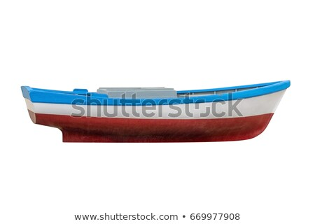 Small rowing boat on the shore of a small river Stock photo © michaklootwijk