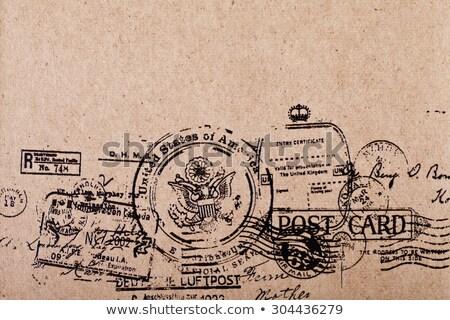 blank antique post card stock photo © gordo25