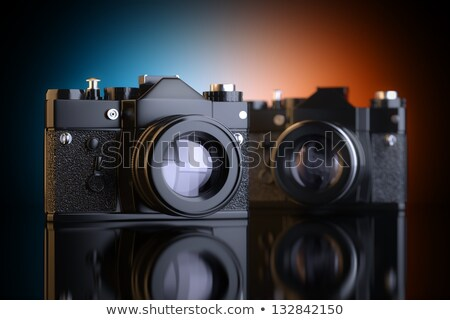 Three Vintage two lens photo camera Stock photo © gavran333