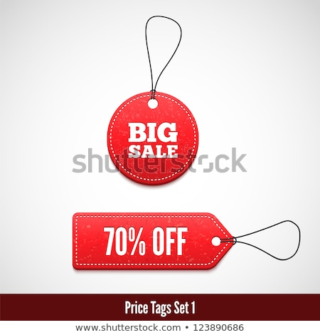 big colorful sale tags stock photo © adamson