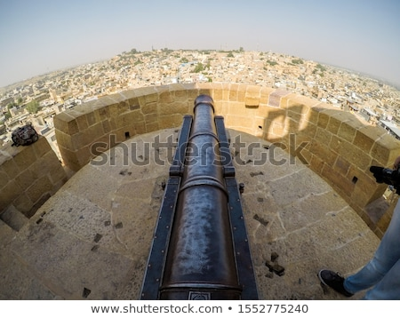 old cannon on roof of Jaisalmer fort Stock photo © Mikko