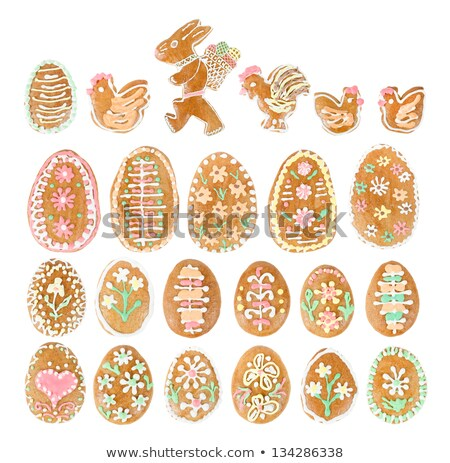 Collection Of Easter Ginger Breads And Eggs Zdjęcia stock © Artush