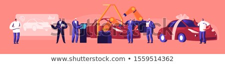 Automobile Engineer - Cartoon Character - Vector Illustration Stock photo © indiwarm