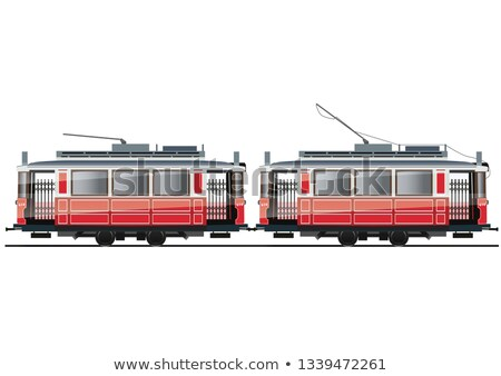 Typical red Tram Stock photo © vwalakte