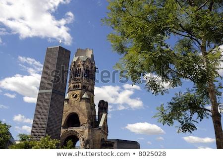 Elpusztított templom Berlin új világ háború Stock fotó © elxeneize