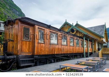 modelo · trem · pormenor · conjunto · locomotiva · raso - foto stock © compuinfoto