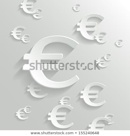 Sok Euro feliratok szimbólumok fehér egy Stock fotó © iqoncept