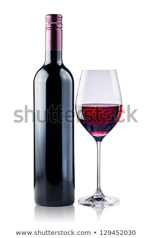 Kırmızı kalp şişeler şarap 3d render merkezi Stok fotoğraf © Porteador