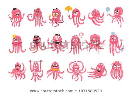 Silly Octopus Cartoon Stock photo © fizzgig