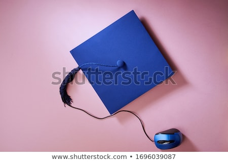 Black Mortarboard and computer mouse Stock photo © devon