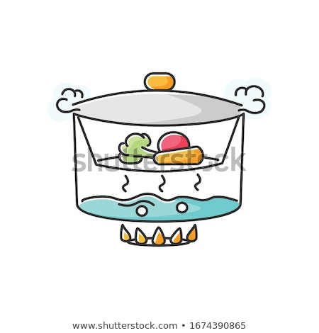 colorido · hortalizas · buque · de · vapor · verde · brócoli · magenta - foto stock © simply