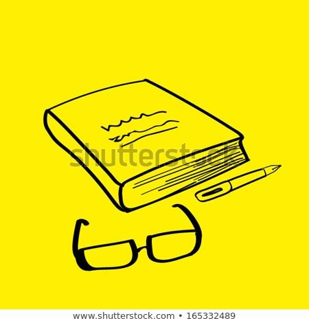 Google verre livre isolé blanche Photo stock © cherezoff