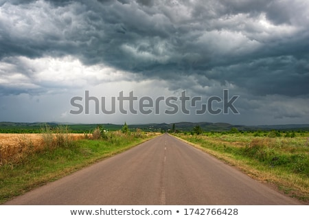 rural road and stormy clouds Stock photo © mycola