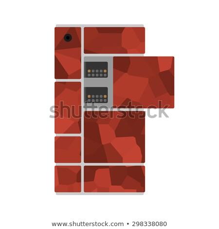 customize concept on orange puzzle stock photo © tashatuvango