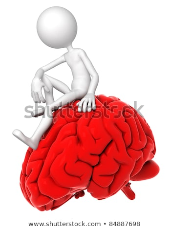 3 ª persona sesión rojo cerebro plantean Foto stock © Kirill_M