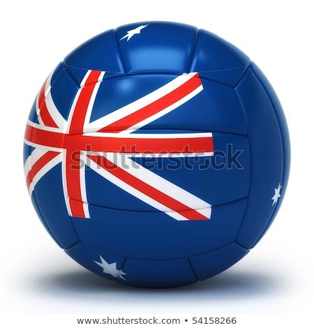 австралийский волейбол команда изолированный синий Сток-фото © bosphorus