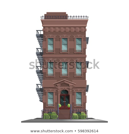 Detail of brick house in Brooklyn Stock photo © CaptureLight