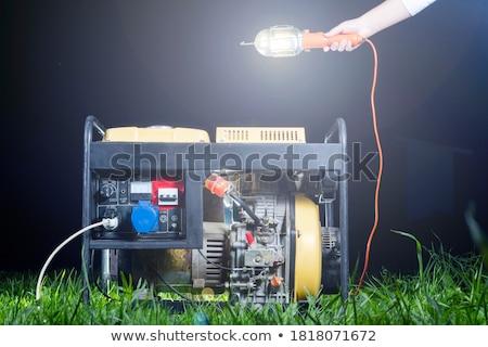 мобильных · власти · генератор · электрических · изолированный · белый - Сток-фото © sframe