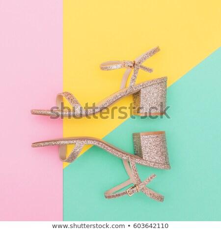 új · gyűjtemény · arany · szandál · magassarkú · magas - stock fotó © tanya_ivanchuk