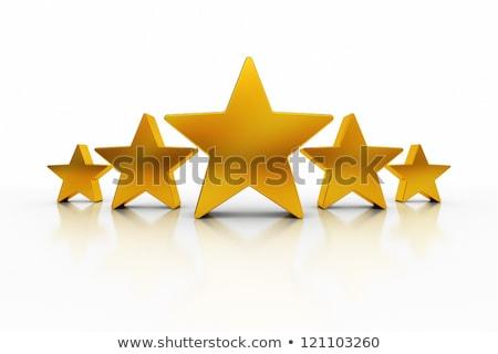Goud sterren illustratie ontwerp witte schoonheid Stockfoto © alexmillos